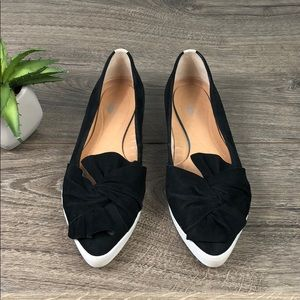Viv Black Suede Pointed Flat